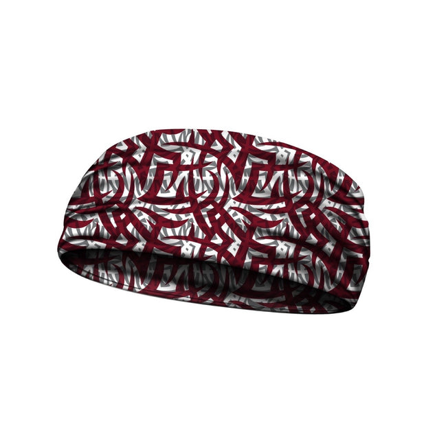 headbands tribal ink maroon 3 widths available