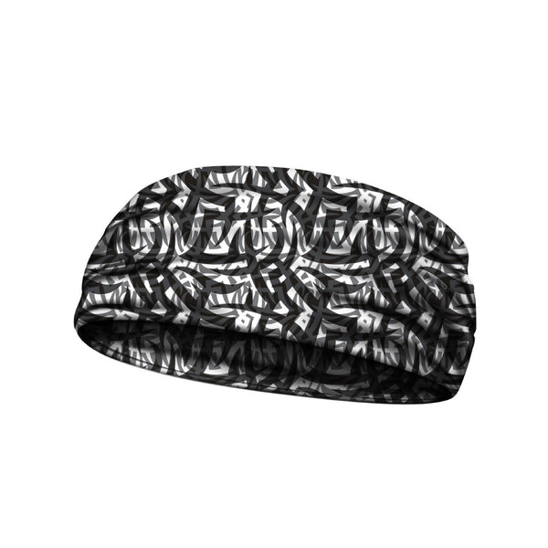 compression headbands tribal ink black sport