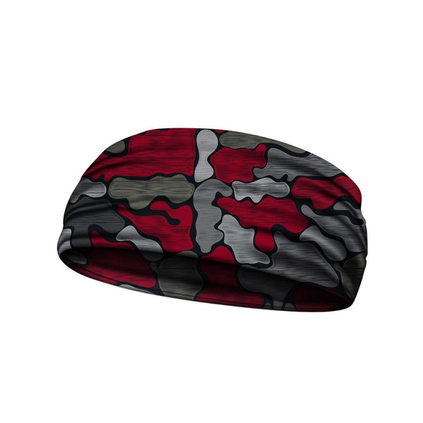 headbands brushed camo red 3 widths available