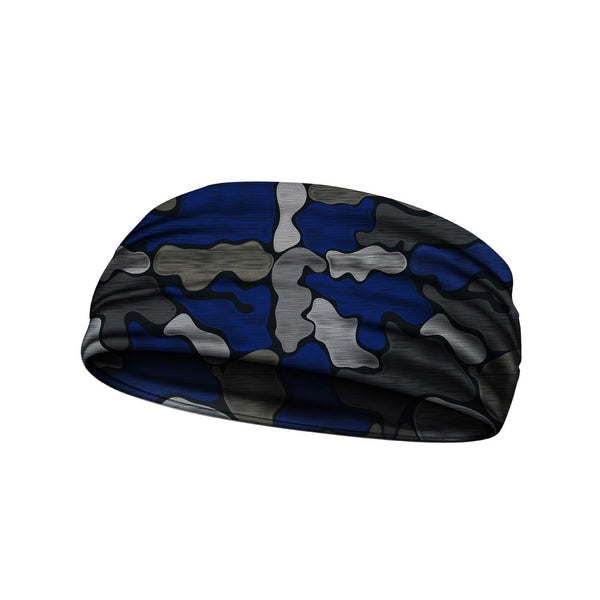 headbands brushed camo blue 3 widths available