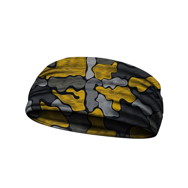 headbands brushed camo yellow 3 widths available