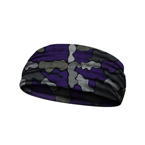 headbands brushed camo purple 3 widths available