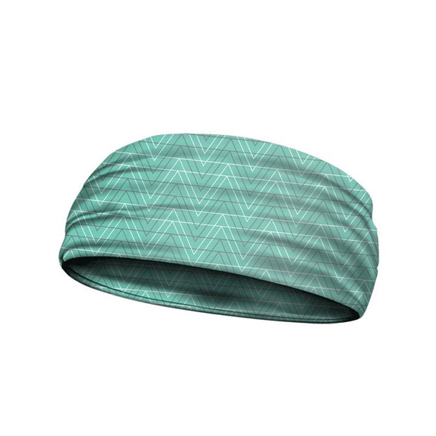 headbands hallow chevron aqua 3 widths available