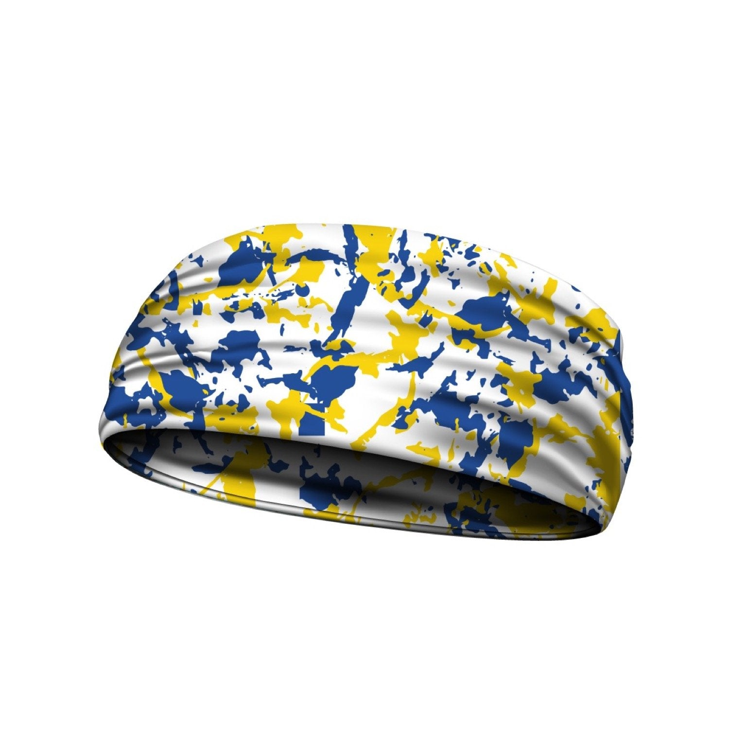 headbands blue and yellow 3 widths available