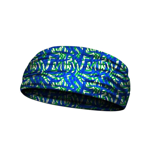 headbands blue and green 3 widths available
