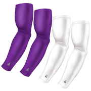 4-Pack Bundle | Solids | White/Purple Medium