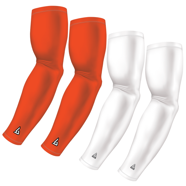 4-Pack Bundle | Solids | White/Orange Dark