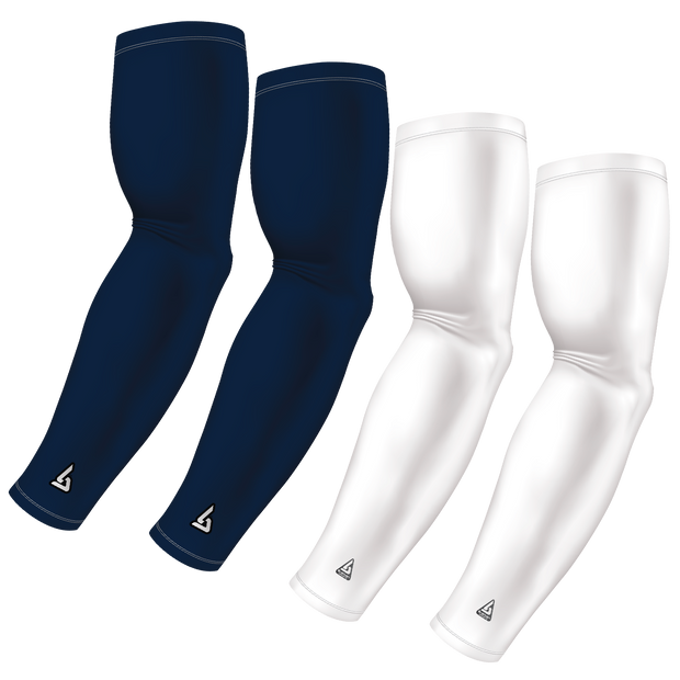 4-Pack Bundle | Solids | White/Blue Navy