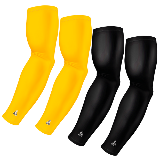 4-Pack Bundle | Solids | Black/Yellow Bright