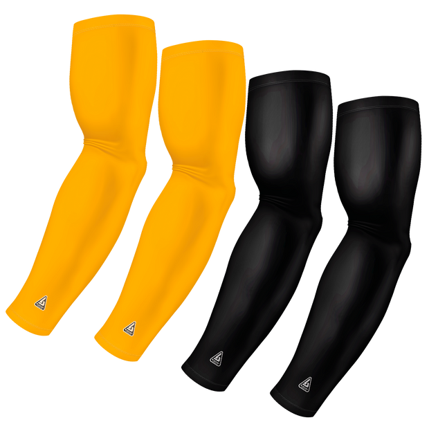 4-Pack Bundle | Solids | Black/Yellow Dark