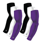 6-Pack Bundle | Solids |White/Black/Purple Medium