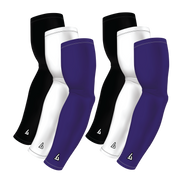 6-Pack Bundle | Solids |White/Black/Purple Dark