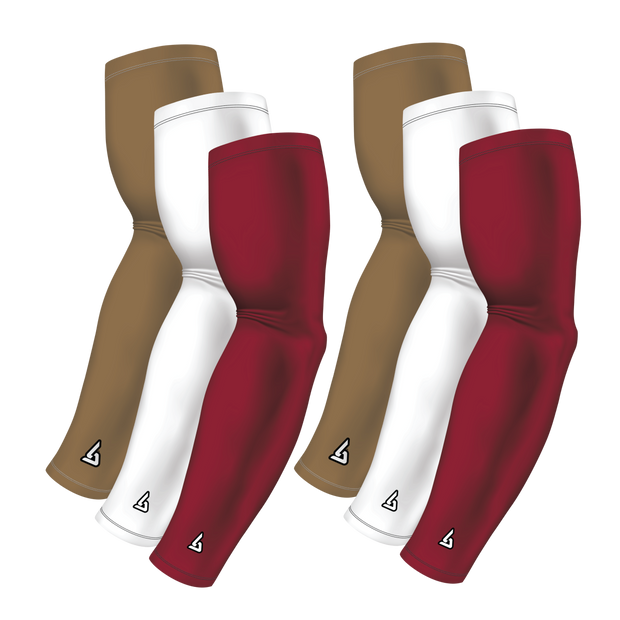 6-pack Bundle | Solids | Maroon Dark/White/Gold Dark