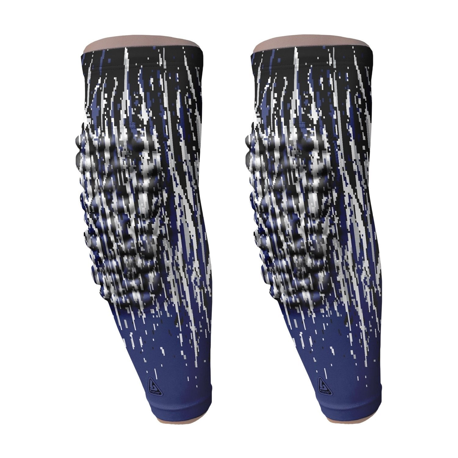 padded arm sleeve navy streaks