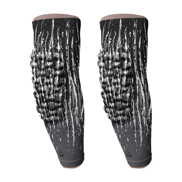 padded arm sleeve black streaks