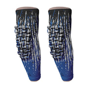 padded arm sleeve royal blue streaks