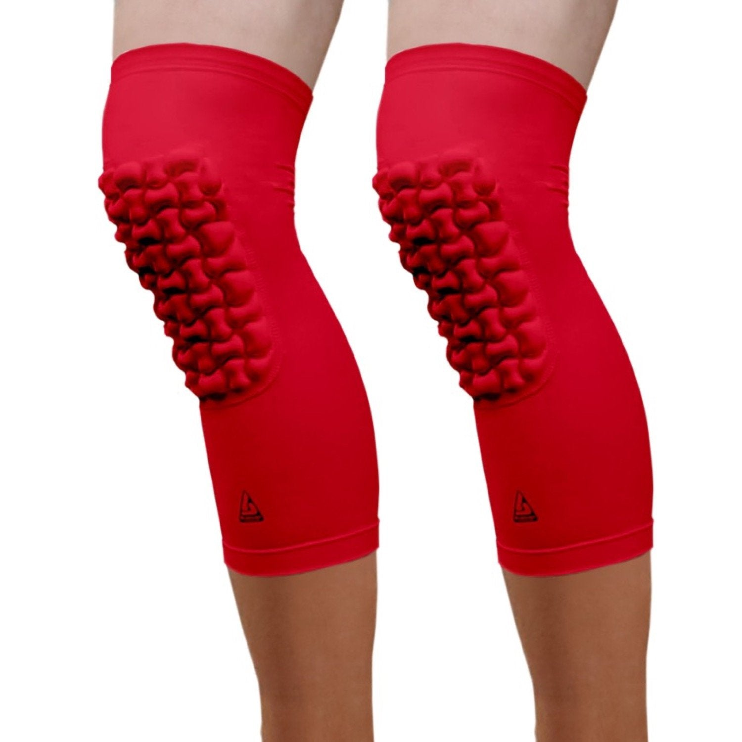 padded knee sleeve red knee