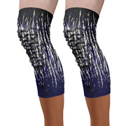 padded knee sleeve navy streaks knee