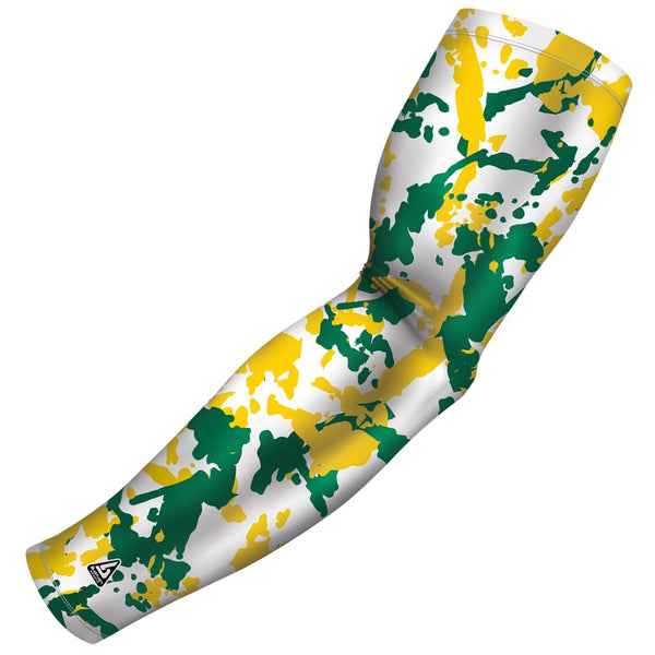 flaked camo green gold b driven slv_pro arm sleeve