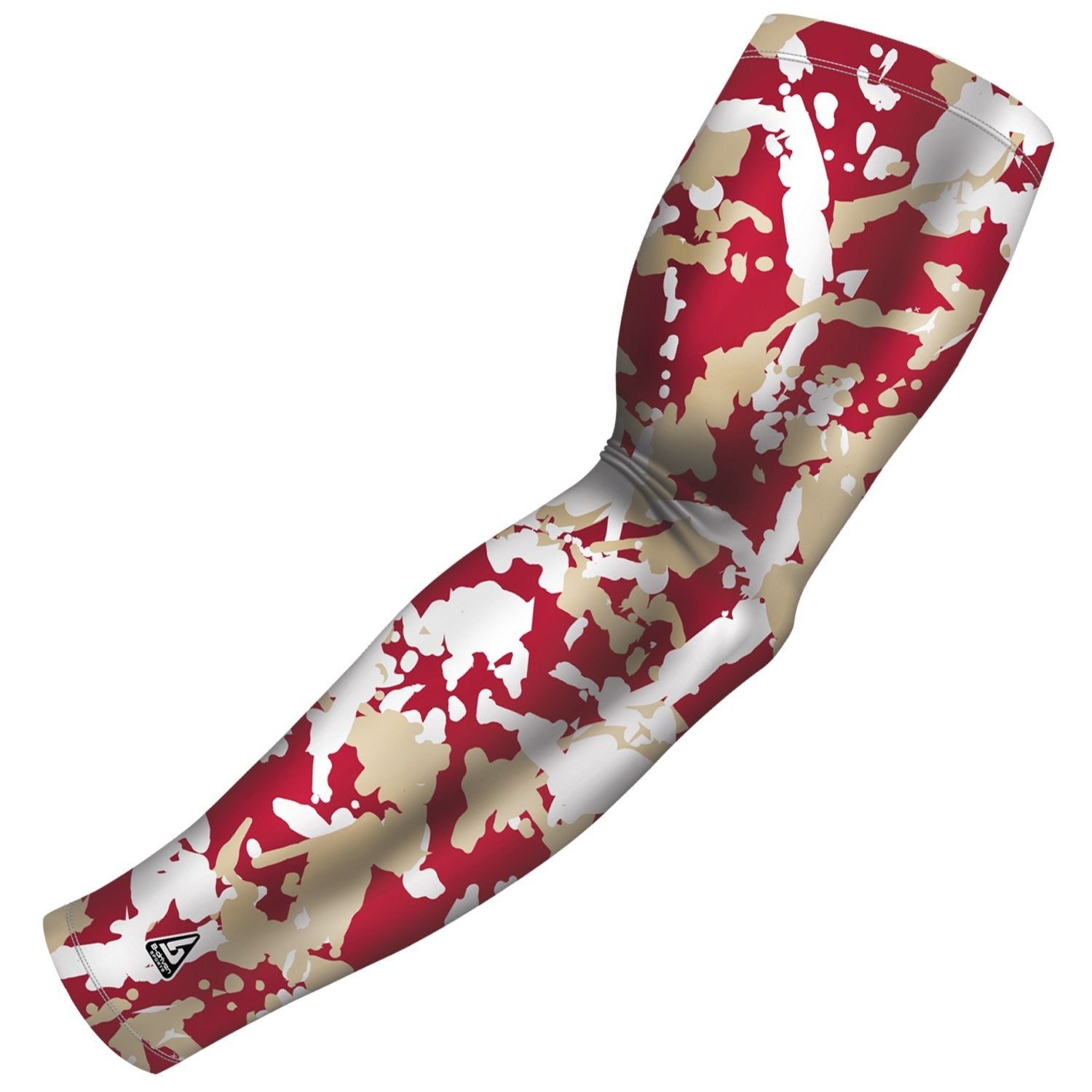 flaked camo maroon gold b driven slv_pro arm sleeve