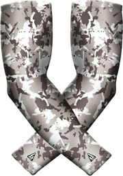 Grey Flaked Camo Sports Compression Sleeve