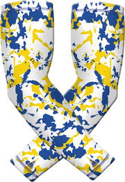 Blue Yellow Flake Sports Compression Sleeve