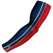 patriot series red blue compression arm sleeve