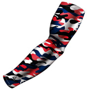 custom clutch camo red and grey compression arm sleeve