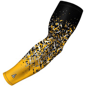 gold arm sleeves for cyclist