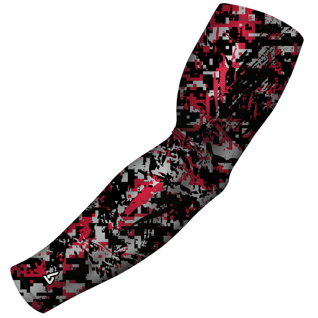 Red Basketball Arm Sleeve - Multiple Patterns