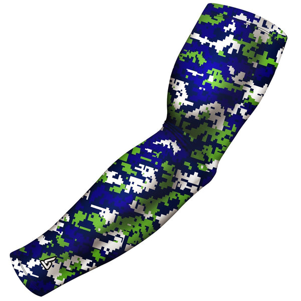 digital camo blue green