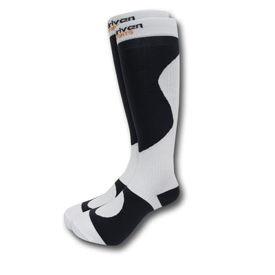 1 PAIR Graduated Compression Socks White and Black