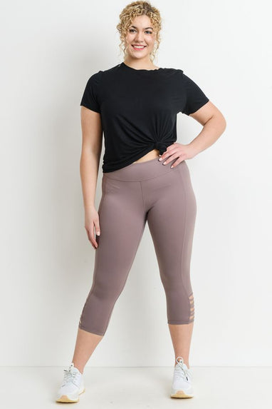 PLUS SIZE CRISS CROSS ACTIVE LEGGINGS