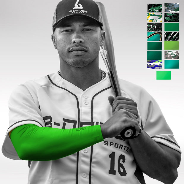 Green Baseball Arm Sleeve