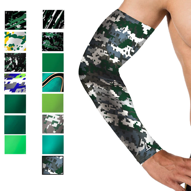 camo Green Baseball Arm Sleeve