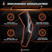 Enhanced Graduated Compression Arm Sleeve | Blue - Pair