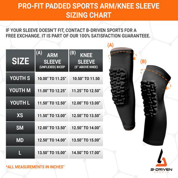 Pro-Fit Padded Knee Sleeve - White Streaks (Knee)
