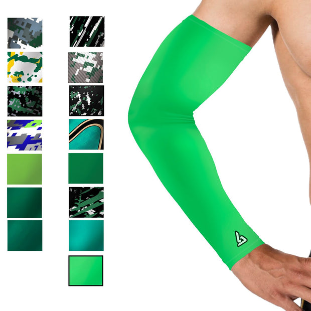 neon green softball arm sleeve