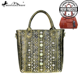 Montana West Concho Collection Concealed Handgun Tote/Crossbody