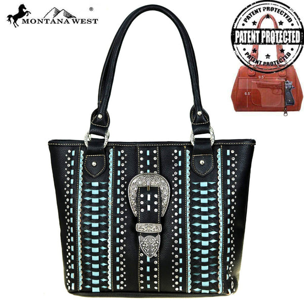 Montana West Buckle Collection Concealed Handgun Tote Bag