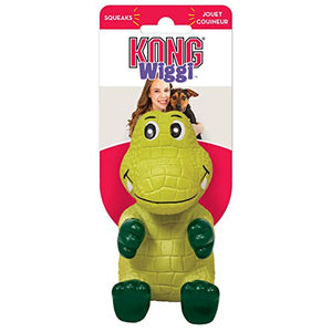 KONG Wiggi Alligator Dog Toy, Large