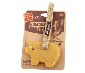 Gigwi Gum Gum Pig with Hemp Strap