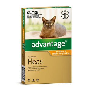 ADVANTAGE CAT 0-4KG ORANGE 6 PACK