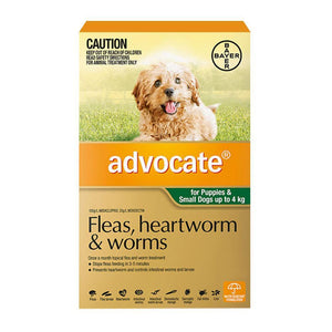 ADVOCATE DOG 0-4KG GREEN 3 PACK