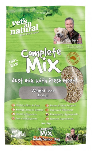 VETS ALL NATURAL COMPLETE MIX WEIGHT LOSS 15KG