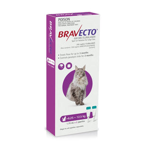 BRAVECTO SPOT-ON CAT 6.25-12.5KG 3 MONTHLY PURPLE