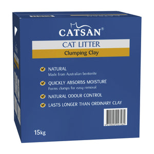 CATSAN ULTRA CLUMPING CLAY CAT LITTER 15KG