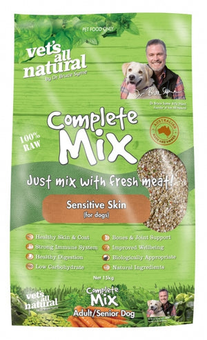 VETS ALL NATURAL COMPLETE MIX SENSITIVE SKIN 15KG