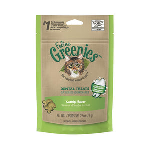 GREENIES CAT DENTAL TREATS CATNIP 71G