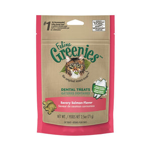 GREENIES CAT DENTAL TREATS SAVOURY SALMON 71G